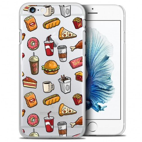 coque crystal iphone 6 6s plus 55 extra fine foodie fast food
