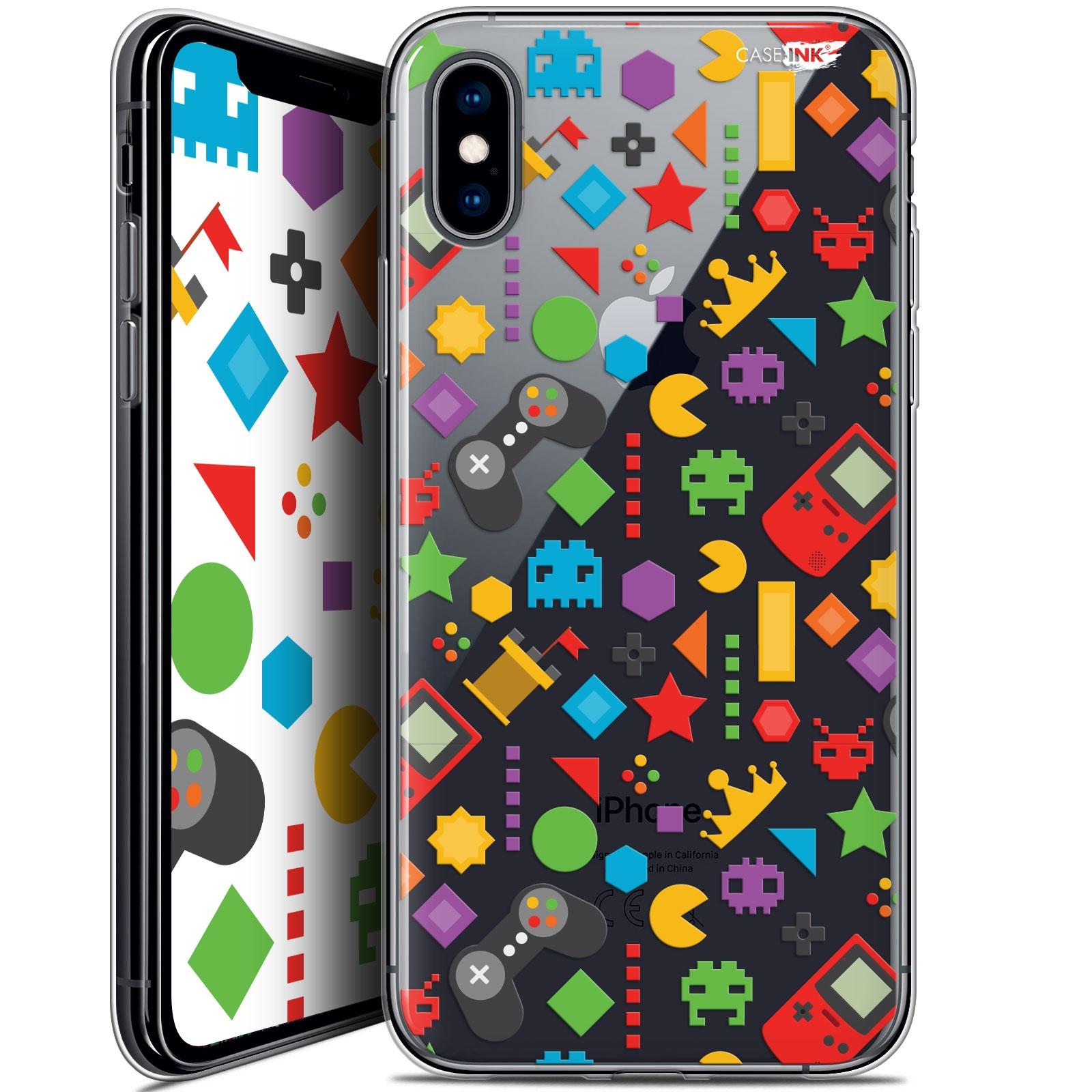Coque Crystal Gel Apple iPhone X (10) Extra Fine Design - PacMan