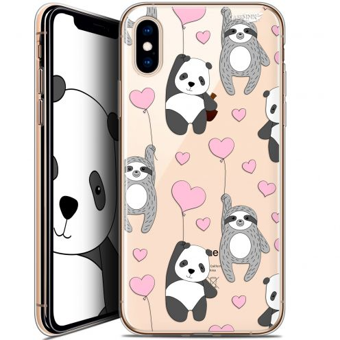 "Coque Crystal Gel Apple iPhone Xs / X (5.8"") Extra Fine Motif -  Panda'mour"