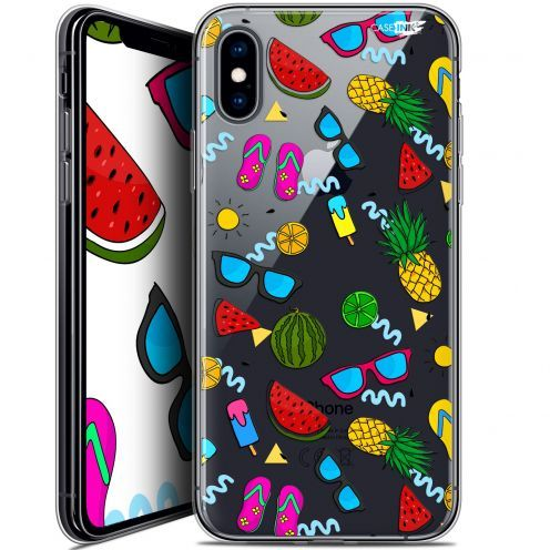 "Coque Crystal Gel Apple iPhone Xs / X (5.8"") Extra Fine Motif -  Summers"