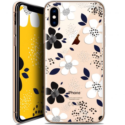 "Coque Crystal Gel Apple iPhone Xs / X (5.8"") Extra Fine Motif -  Marimeko Style"