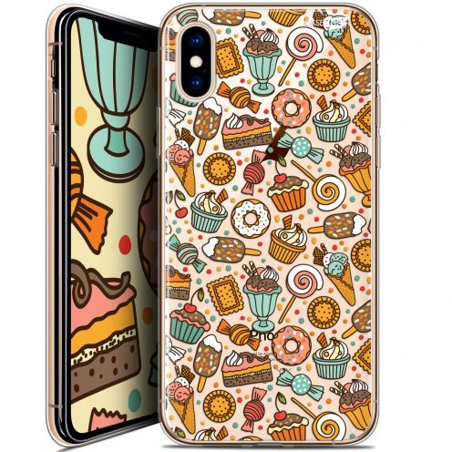"Coque Crystal Gel Apple iPhone Xs / X (5.8"") Extra Fine Motif -  Bonbons"