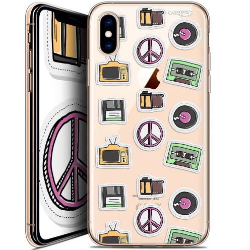 "Coque Crystal Gel Apple iPhone Xs / X (5.8"") Extra Fine Motif -  Vintage Stickers"