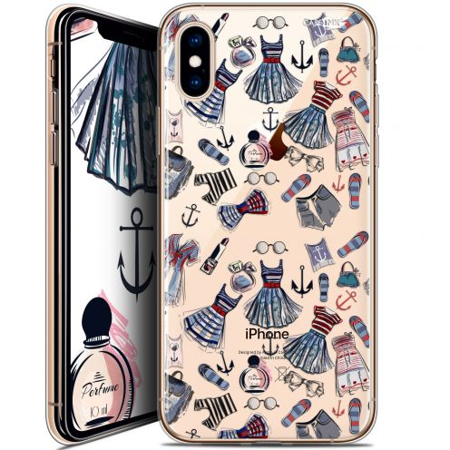 "Coque Crystal Gel Apple iPhone Xs / X (5.8"") Extra Fine Motif -  Fashionista"