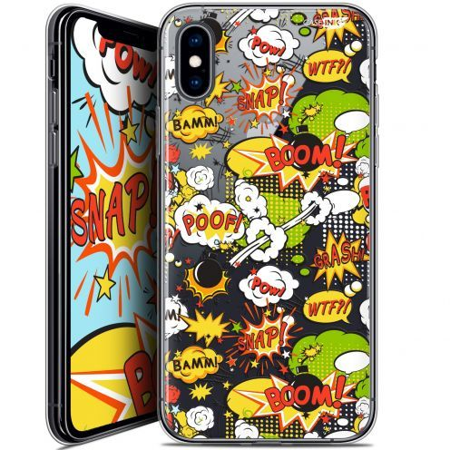 "Coque Crystal Gel Apple iPhone Xs / X (5.8"") Extra Fine Motif - Bim Bam Boom"