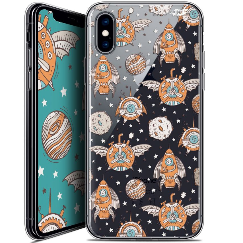 """Coque Crystal Gel Apple iPhone Xs / X (5.8"""") Extra Fine Motif - Punk Space"""