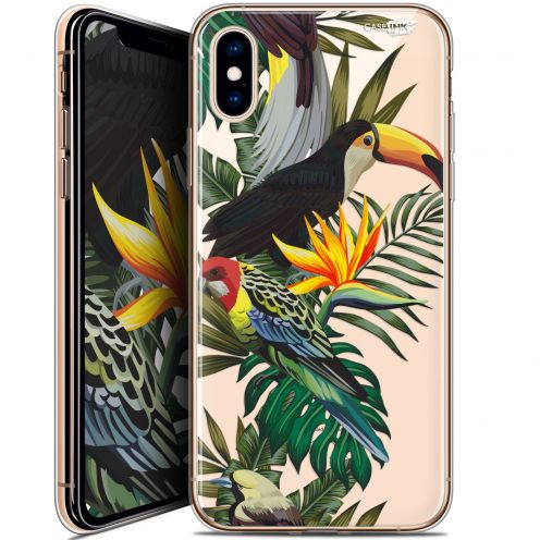 "Coque Crystal Gel Apple iPhone Xs / X (5.8"") Extra Fine Motif -  Toucan Tropical"