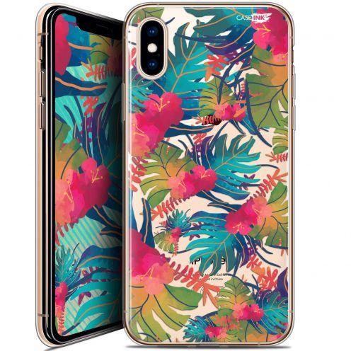 """Coque Crystal Gel Apple iPhone Xs / X (5.8"""") Extra Fine Motif -  Couleurs des Tropiques"""