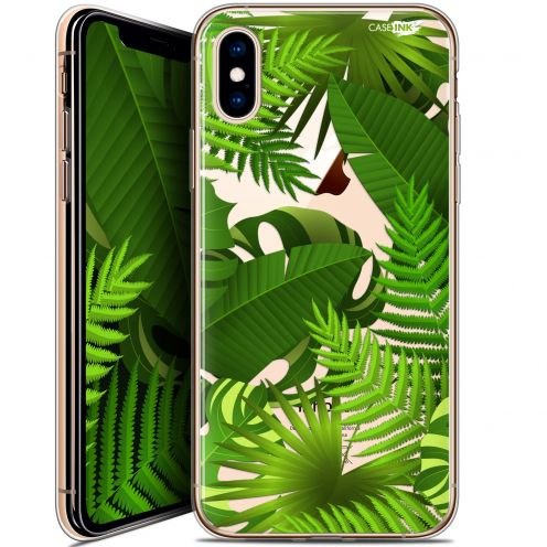 "Coque Crystal Gel Apple iPhone Xs / X (5.8"") Extra Fine Motif -  Plantes des Tropiques"