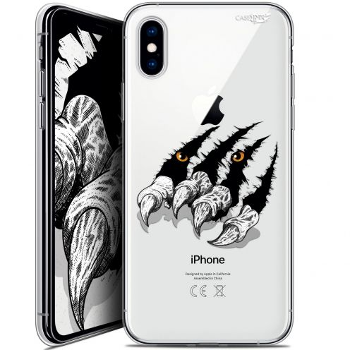 "Coque Crystal Gel Apple iPhone Xs / X (5.8"") Extra Fine Motif - Les Griffes"