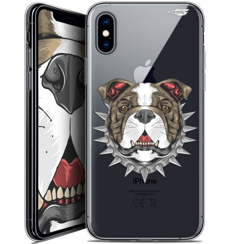 "Coque Crystal Gel Apple iPhone Xs / X (5.8"") Extra Fine Motif - Doggy"