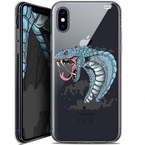 "Coque Crystal Gel Apple iPhone Xs / X (5.8"") Extra Fine Motif -  Cobra Draw"