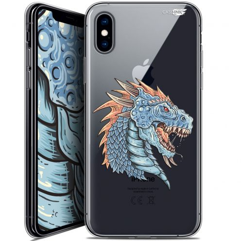 "Coque Crystal Gel Apple iPhone Xs / X (5.8"") Extra Fine Motif -  Dragon Draw"