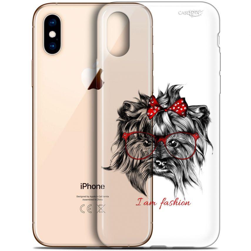 """Coque Crystal Gel Apple iPhone Xs / X (5.8"""") Extra Fine Motif - Fashion Dog"""