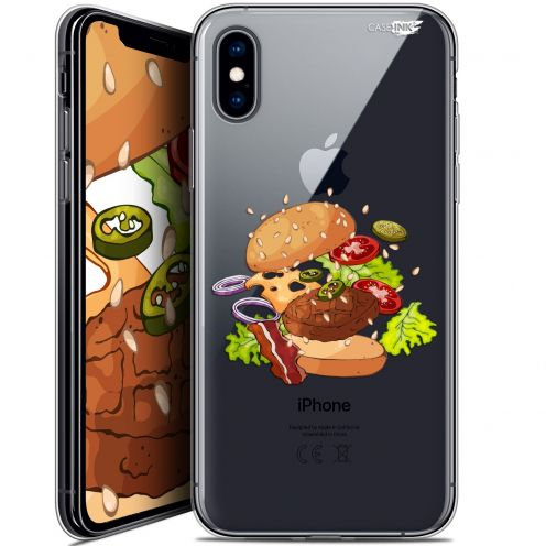 "Coque Crystal Gel Apple iPhone Xs / X (5.8"") Extra Fine Motif - Splash Burger"