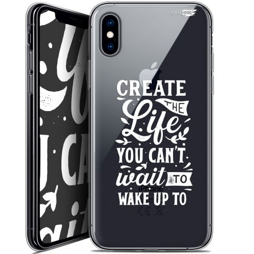 "Coque Crystal Gel Apple iPhone Xs / X (5.8"") Extra Fine Motif -  Wake Up Your Life"