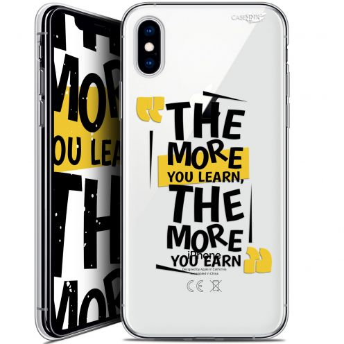 "Coque Crystal Gel Apple iPhone Xs / X (5.8"") Extra Fine Motif -  The More You Learn"