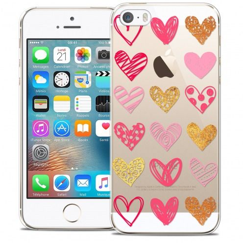 Coque Crystal iPhone 5/5s/SE Extra Fine Sweetie - Doodling Hearts