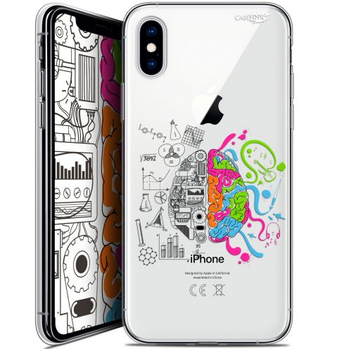 "Coque Crystal Gel Apple iPhone Xs / X (5.8"") Extra Fine Motif -  Le Cerveau"