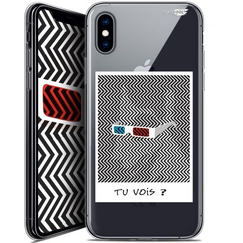 "Coque Crystal Gel Apple iPhone Xs / X (5.8"") Extra Fine Motif -  Tu Vois ce que Je Vois ?"