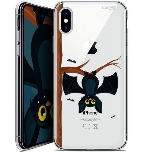 "Coque Crystal Gel Apple iPhone Xs / X (5.8"") Extra Fine Motif -  Petite Chauve Souris"