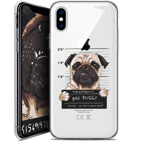 "Coque Crystal Gel Apple iPhone Xs / X (5.8"") Extra Fine Motif -  Beware The Puggy Dog"
