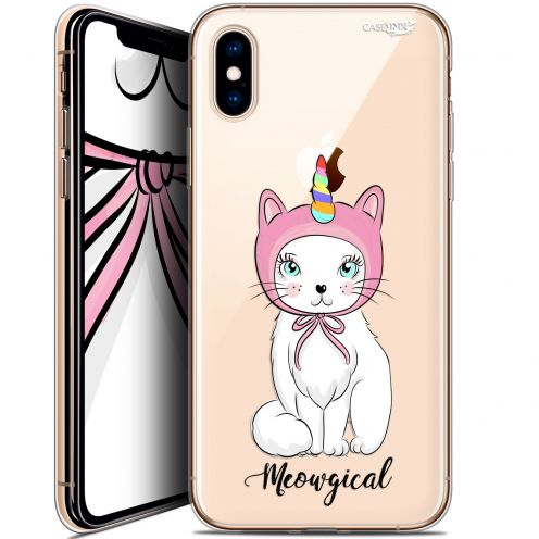 "Coque Crystal Gel Apple iPhone Xs / X (5.8"") Extra Fine Motif -  Ce Chat Est MEOUgical"