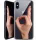 "Coque Crystal Gel Apple iPhone Xs / X (5.8"") Extra Fine Motif -  Le Jeu du Rond"