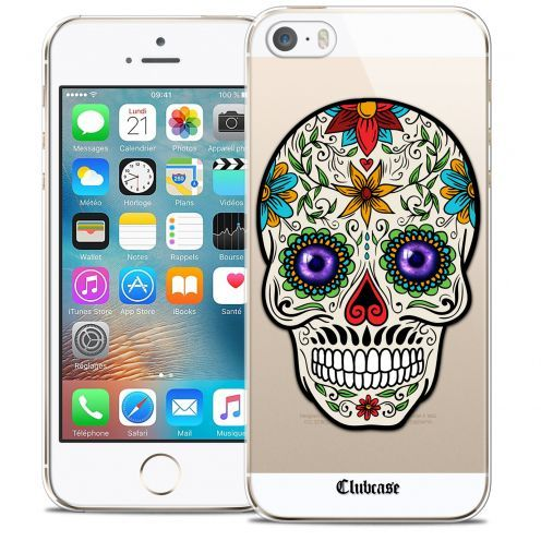 Coque Crystal iPhone 5/5s/SE Extra Fine Skull - Maria's Flower