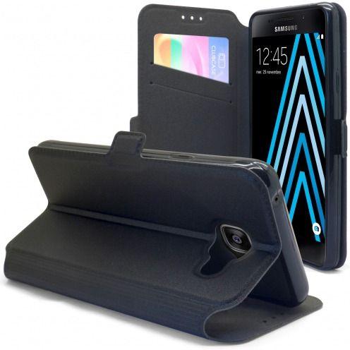Etui Galaxy A3 (2016) Slim Folio Gel Magnet Noir