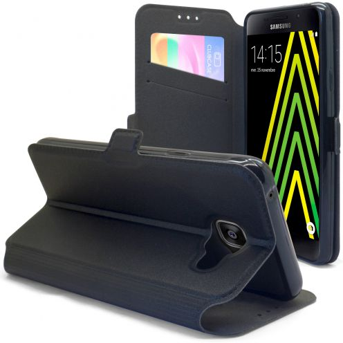 Etui Galaxy A5 (2016) Slim Folio Gel Magnet Noir