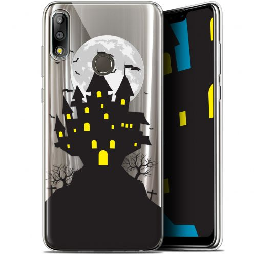 "Coque Gel Asus Zenfone Max Pro (M2) ZB631KL (6.26"") Extra Fine Halloween - Castle Scream"