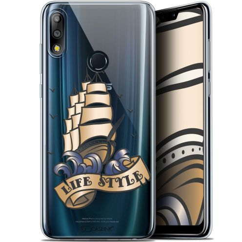 """Coque Gel Asus Zenfone Max Pro (M2) ZB631KL (6.26"""") Extra Fine Tatoo Lover - Fashion"""