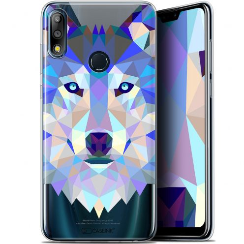 "Coque Gel Asus Zenfone Max Pro (M2) ZB631KL (6.26"") Extra Fine Polygon Animals - Loup"