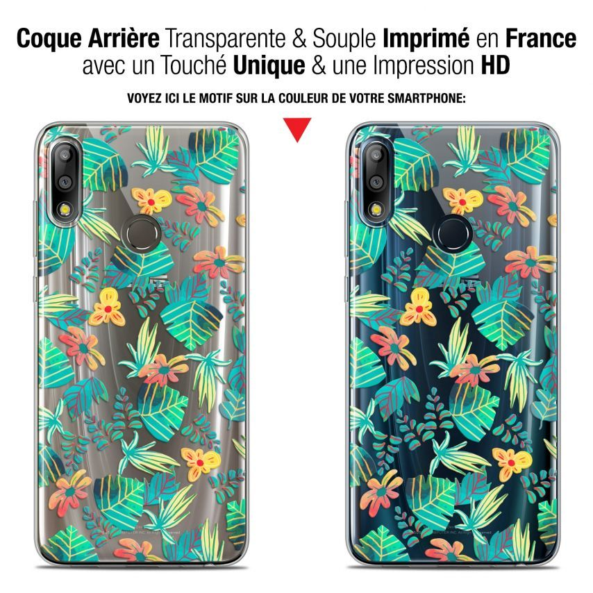 """Coque Gel Asus Zenfone Max Pro (M2) ZB631KL (6.26"""") Extra Fine Spring - Tropical"""