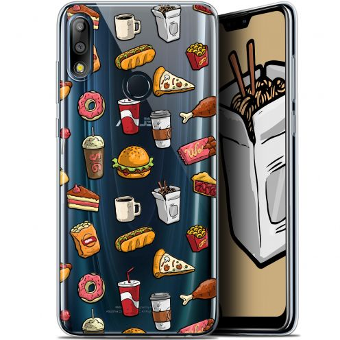 """Coque Gel Asus Zenfone Max Pro (M2) ZB631KL (6.26"""") Extra Fine Foodie - Fast Food"""