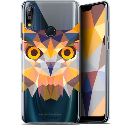 "Coque Gel Asus Zenfone Max Pro (M2) ZB631KL (6.26"") Extra Fine Polygon Animals - Hibou"