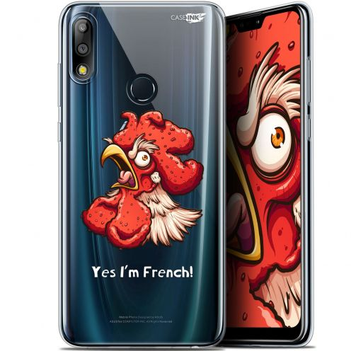 "Coque Gel Asus Zenfone Max Pro (M2) ZB631KL (6.26"") Extra Fine Motif -  I'm French Coq"