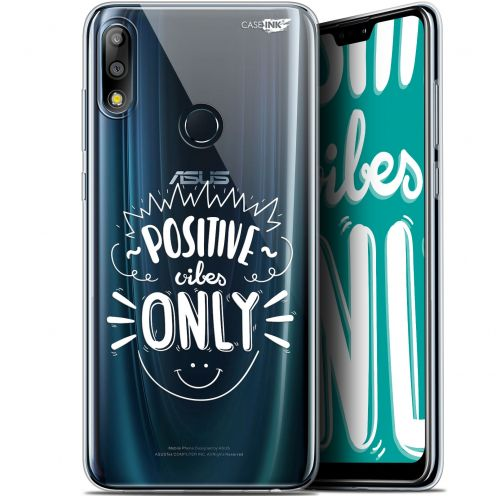 "Coque Gel Asus Zenfone Max Pro (M2) ZB631KL (6.26"") Extra Fine Motif -  Positive Vibes Only"