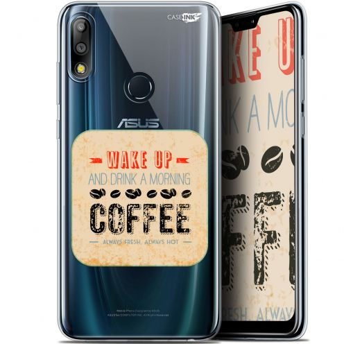 "Coque Gel Asus Zenfone Max Pro (M2) ZB631KL (6.26"") Extra Fine Motif - Wake Up With Coffee"