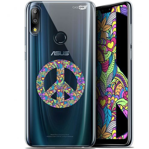 "Coque Gel Asus Zenfone Max Pro (M2) ZB631KL (6.26"") Extra Fine Motif - Peace And Love"