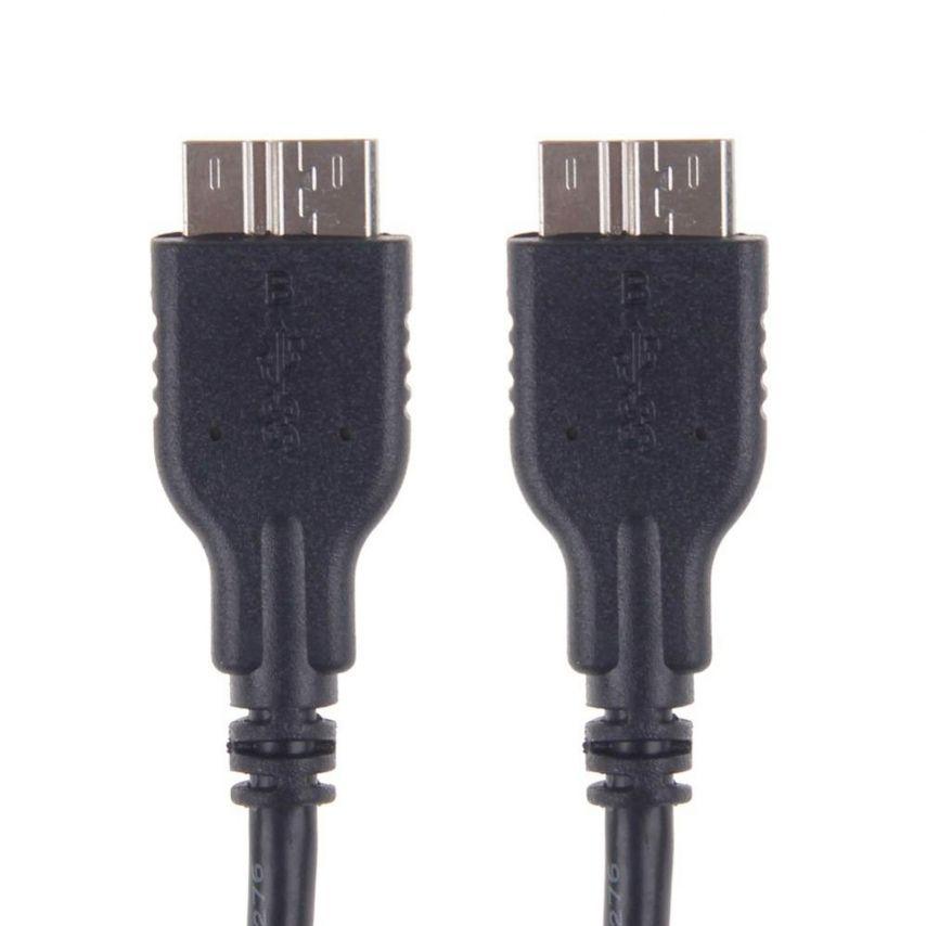 Câble de synchronisation et transfert OTG USB 3.0 à USB 3.0 Noir