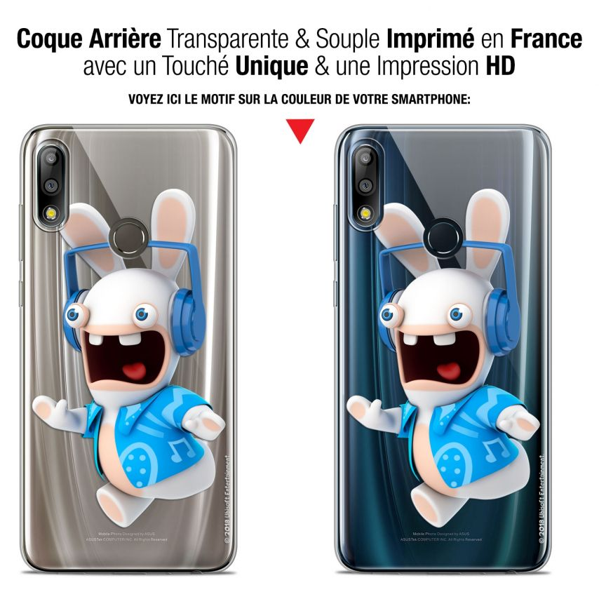 """Coque Gel Asus Zenfone Max Pro (M2) ZB631KL (6.26"""") Extra Fine Lapins Crétins™ - Techno Lapin"""