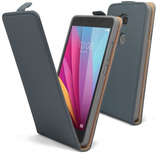 Coque Flexi Flip Huawei Honor 5X Cuirette Eco Graphite