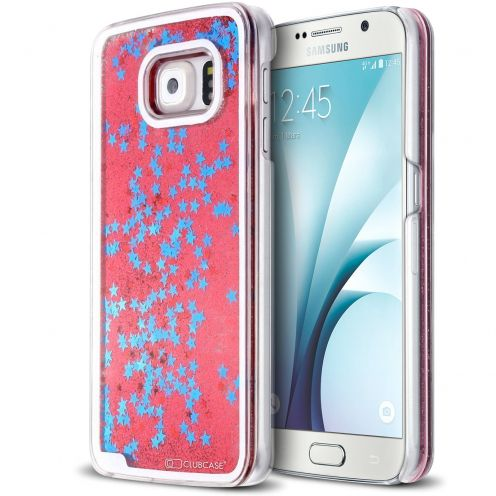 Coque Crystal Glitter Liquid Diamonds Rouge Samsung Galaxy S6