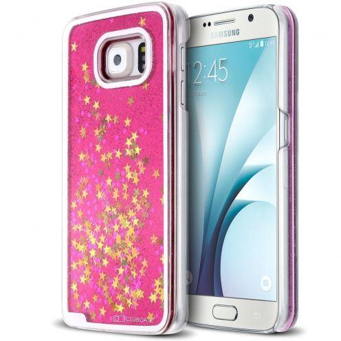 Coque Crystal Glitter Liquid Diamonds Rose Samsung Galaxy S6