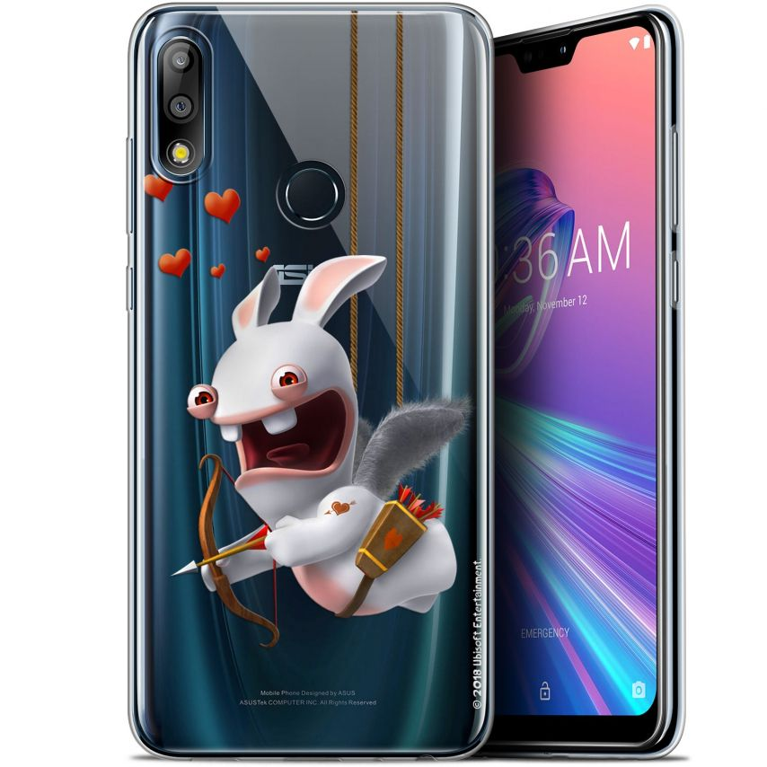 """Coque Gel Asus Zenfone Max Pro (M2) ZB631KL (6.26"""") Extra Fine Lapins Crétins™ - Flying Cupidon"""