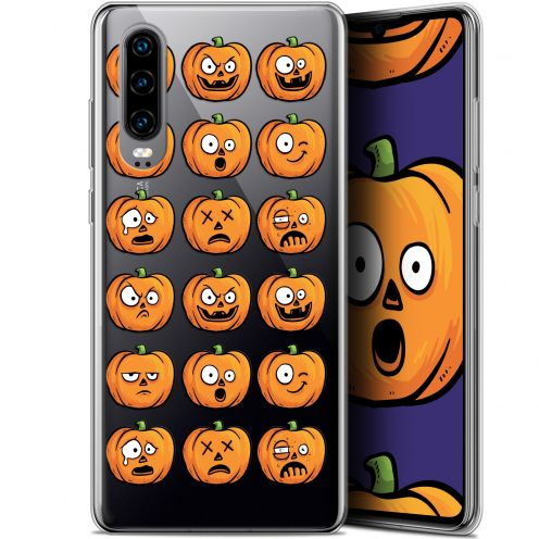 "Coque Gel Huawei P30 (6.1"") Extra Fine Halloween - Cartoon Citrouille"