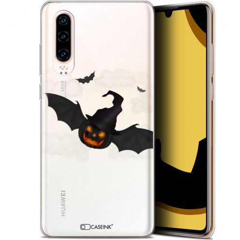 "Coque Gel Huawei P30 (6.1"") Extra Fine Halloween - Chauve Citrouille"