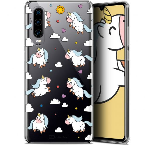 "Coque Gel Huawei P30 (6.1"") Extra Fine Fantasia - Licorne In the Sky"